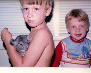 Gerbil number 2, my older brother and me.