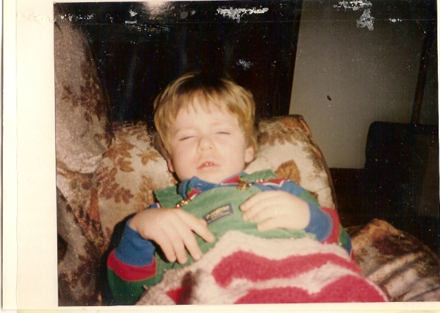 And finally...me asleep.