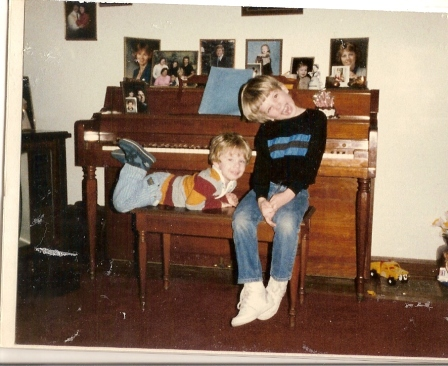 Me and my brother at my grandma's
