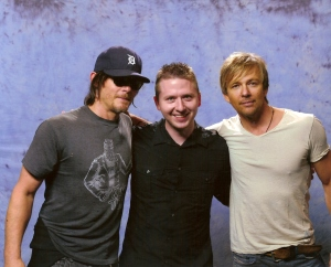 Okay, this has nothing to do with what I'm writing, but over the weekend I did finally get to meet my two favorite actors Norman Reedus and Sean Patrick Flanery and even in my severely sleep deprived state I can tell you, these guys are awesome and are remarkably down to earth.