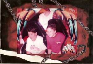 My step-brother and me at King's Island....Sorry Patrick this is the only picture I could find of you.