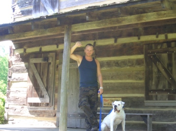 My older brother and his dog Dozer