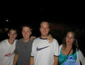 My cousin derek, me, my brother and Jenifer
